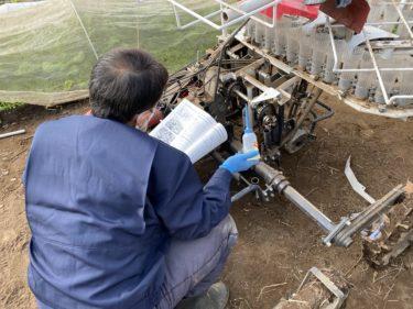 2020年11月26日(木)の作業記録 (移植機メンテナンス、玉ねぎ定植作業と補植作業、吉岡さん畑の移植機での玉ねぎの定植作業は終わりました)