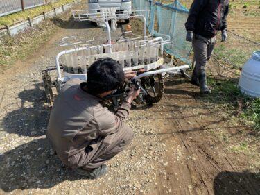 2021年3月4日(木)の作業記録 (マメトラMV-70キャブレター清掃しましたが動作不調、茄子類播種育苗作業、移植機のクラッチレバー交換)