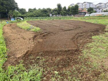2021年7月7日(水)の作業記録 (除草作業、吉田さん畑の山部分をトラクターで耕耘)
